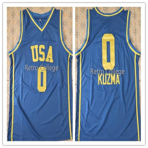 #0 Kyle Kuzma All Star Team USA maillot de basket-ball brodé personnaliser n'importe quel nom et numéro