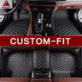 Alfombras de piso de coche de ajuste personalizado para MERCEDES BENZ a C W204 W205 e W211 W212 W213 s clase CLA GLC ml GLE GL alfombra Car-styling liners