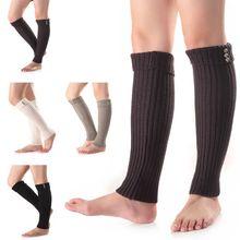 Модные вязаные гетры с пуговицами; сезон осень-зима; длинные ажурные сапоги с манжетами; Calentadores Piernas; вязаные носки для обуви для девочек