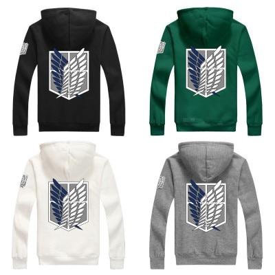 6 Farben Anime Angriff auf Titan Cosplay Scouting Legion Hoodie Allen Mit Kapuze Mantel Jacke für Unisex
