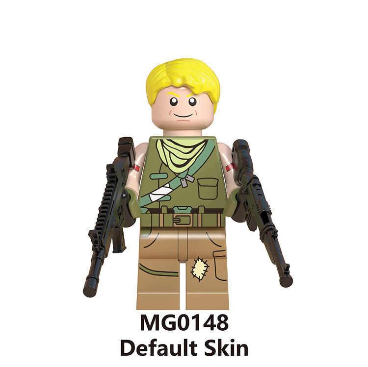 8pcs/set Fortnited Figures Weapon fortnited battle royale Ninja Jonesy Builder Explorer Dark Voyar Skull Trooper Building Blocks