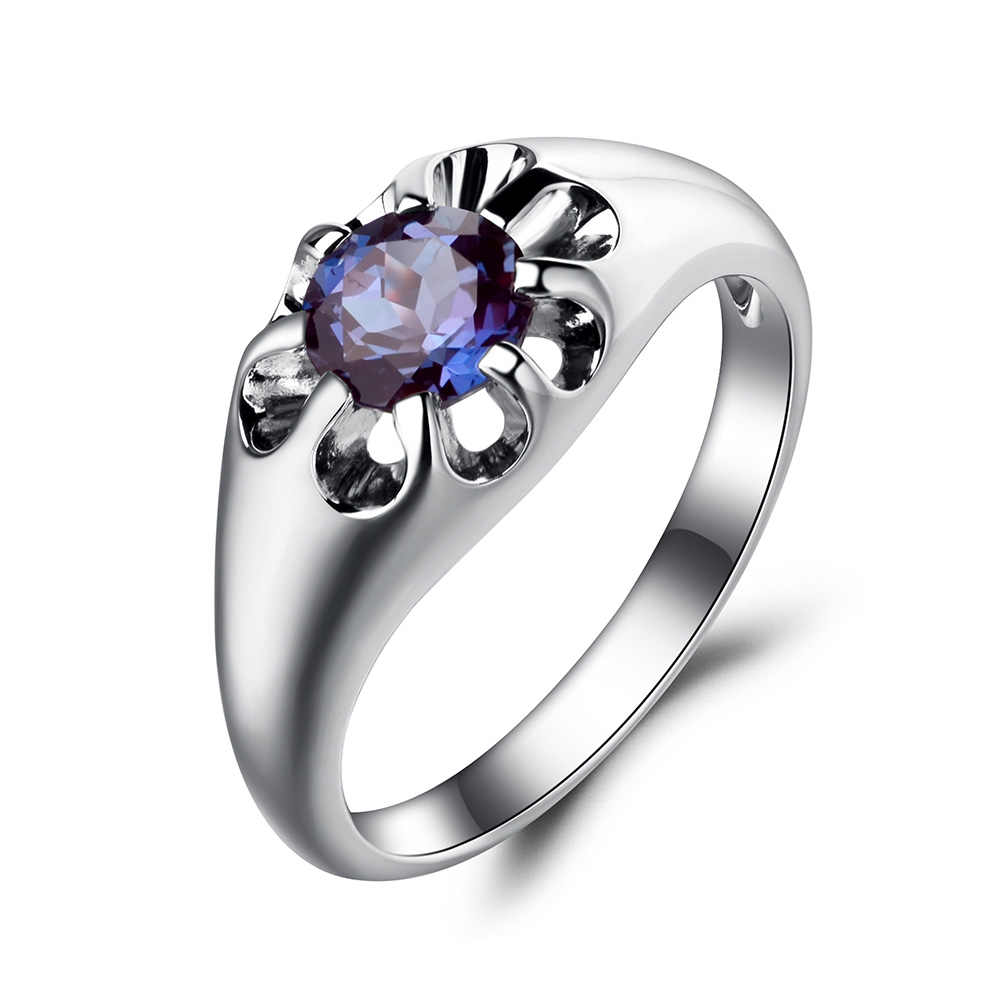 d701e5161f Leige Jewelry Lab Alexandrite Ring Wedding Ring Color Change Gemstone 925  Sterling Silver Ring June Birthstone Solitaire Ring