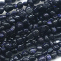 "Discount Wholesale Natural Genuine Blue Goldstone Nugget Loose Beads Free Form Beads 3-12mm Fit Jewelry 15"" 03917"