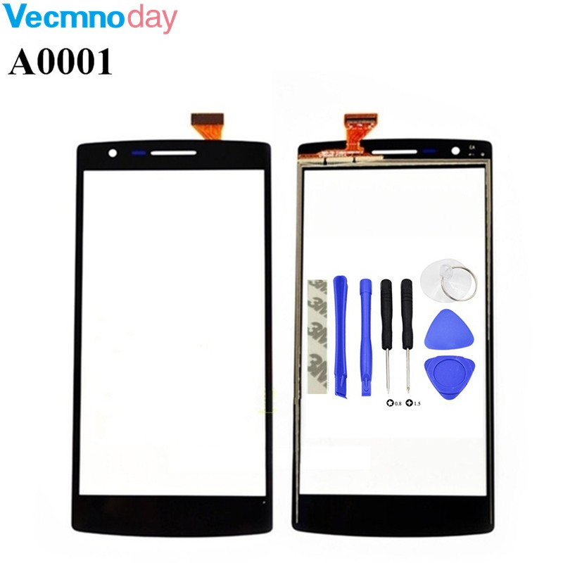 Vecmnoday Touch Screen Digitizer Glass Lens Sensor Replacement parts For Oneplus One 1+ A0001 mobile phone touch panel+tools