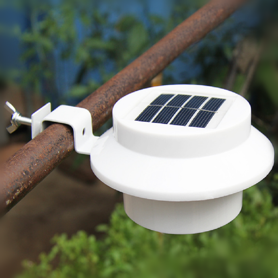 Outdoor Lighting Smart LED Solar Light Sink Fence  Eaves Landscape Garden Light Path Light Solar Lamp Light Control Sensor Light