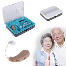 High quality Hearing Aid Small Hearing Aids Sound Voice Amplifier Mini Convenient Behind Ear with Box(China)