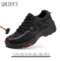 Men's Fashion Breathable Safety Shoes Work Shoes Resistance indestructible Military Steel toe Safety Shoes Construction Men Boot