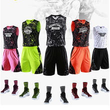 Basketball Uniforms 2019 Custom Adult Men Basketball Jersey Sets Sports clothes And Shorts Training Suits
