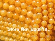 Envío gratis encantos naturales 12mm calcita amarilla ronda perlas sueltas accesorios de la joyería