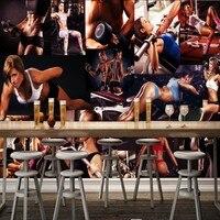3D фото обои Бодибилдинг сексуальный Красота тренажерный зал Фото Стена бар фон дома украшения на заказ росписи высокое качество обои