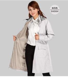 Для женщин стиль серебро волокна двойной слой электромагнитное излучение пальто с крышкой, компьютер, EMF Экранирование, RFID блока.
