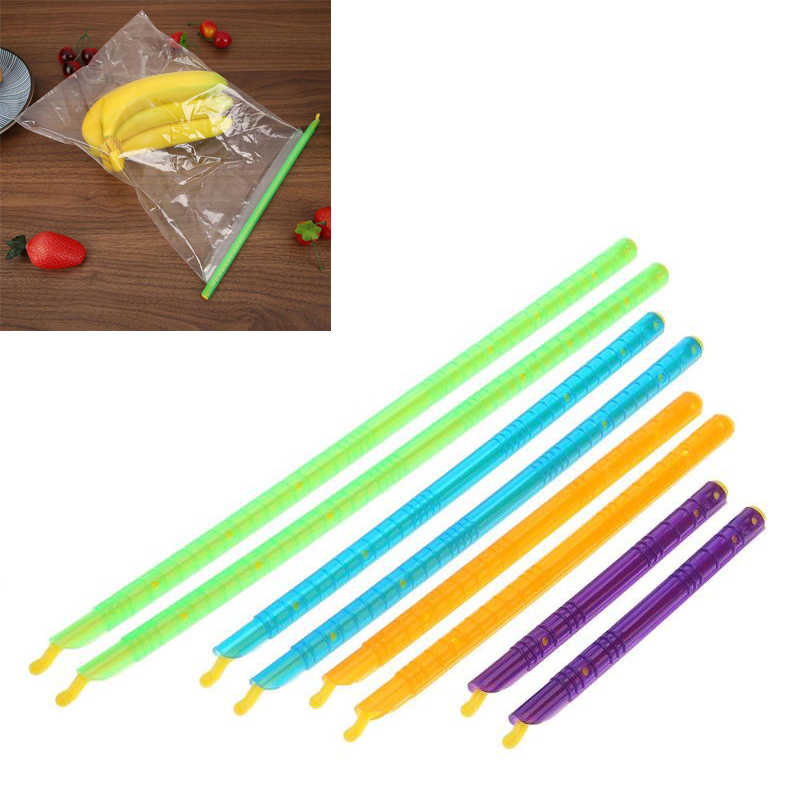 8pcs Plastic Seal Stick Storage Chips Bag Fresh Food Snack Grip Kitchen Sealing Clips Coffee Bag Clips Sealer Clamp