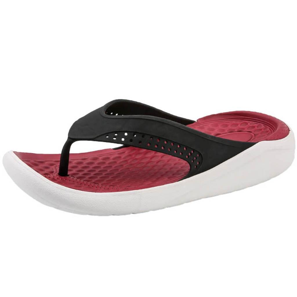 Flip-flops Diplomatisch Youyedian Mann Sommer Slipper Strand Sandalen Aushöhlen Casual Atmungs Flip Flop Hausschuhe Wohnungen Schuhe Claquettes Chaussure # G3 Knitterfestigkeit Herrenschuhe