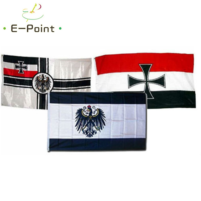 wholesale set german imperial prussia war wwii iron cross 3 flags 3ft5ft 90 - German Christmas Decorations Wholesale