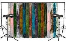 Exquisite Colorful Wooden Background Different Colors Painted the Entire Board Backdrops children Photo Backdrop 150x210cm