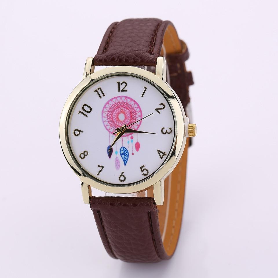 2018 Для женщин часы водонепроницаемые Роскошные модный бренд кожаный ремешок кварцевые часы дамы Роман Количество Браслет часы