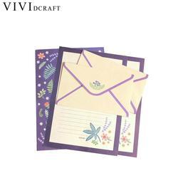 Vividcraft Koreanische Briefpapier Kids Geschenk Umschlag Fein Blume Tier Brief Pad Set Brief Papier + Umschläge Sets Schreibpapier