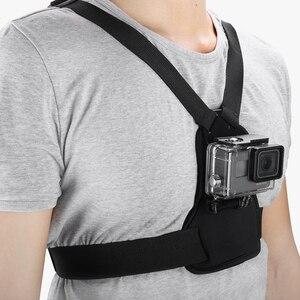 Image 5 - Vamson git Pro aksesuarları için elastik vücut koşum kayışı göğüs kemeri dağı Gopro Hero için 8 7 6 5 için yi SJCAM kamera için VP204
