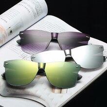 Новинка, женские солнцезащитные очки, цветные, Ретро стиль, модные, без оправы, солнцезащитные очки, женские, Ретро стиль, роскошные Брендовые очки, дизайн
