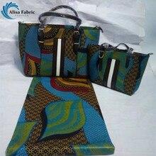 6 ярдов голландской восковой ткани и мешок руки премьер африканских супер ткань воска Анкара для свадьбы