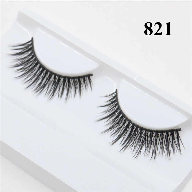 5fff6675abe Detail Feedback Questions about 3D Mink Lashes Cheap Hand Made Mink  Eyelashes Medium Volume Cruelty Free Mink False Eyelashes Upper Lashes 821  on ...