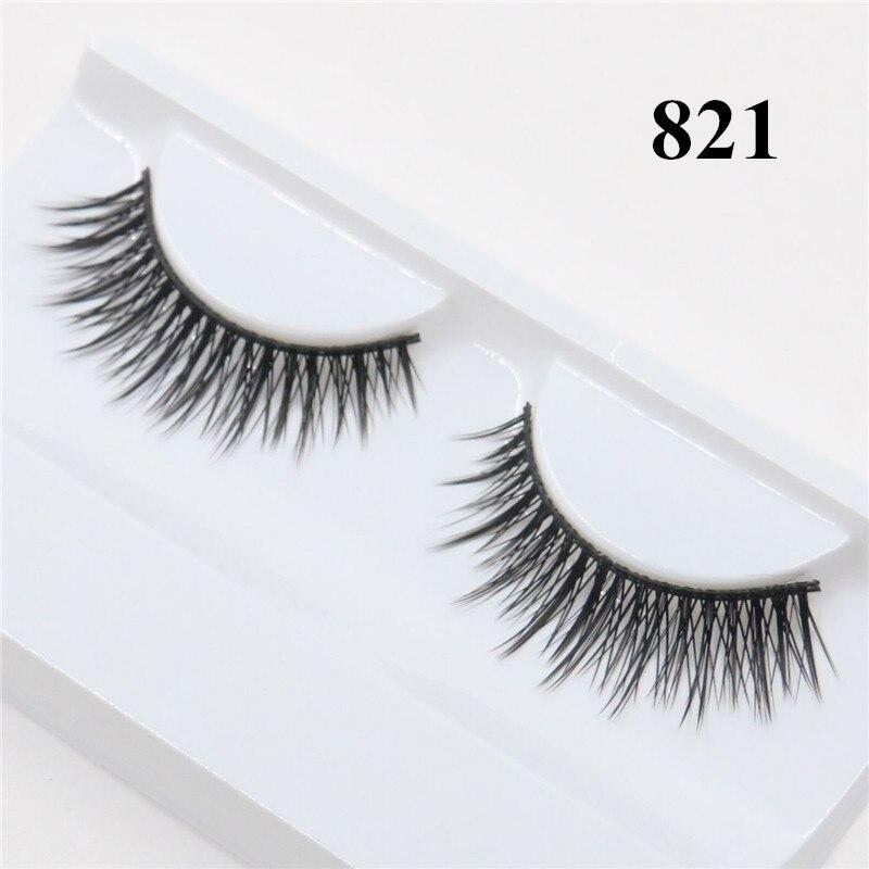 3D Mink Lashes Cheap Hand Made Mink Eyelashes Medium Volume Cruelty Free Mink False Eyelashes Upper Lashes 821