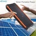 YFW 10000 mAh Carregador Portátil de Energia Solar Banco De Potência 2 USB 18650 Powerbank Bateria Externa Lanterna LED SOS para Camping Caminhadas