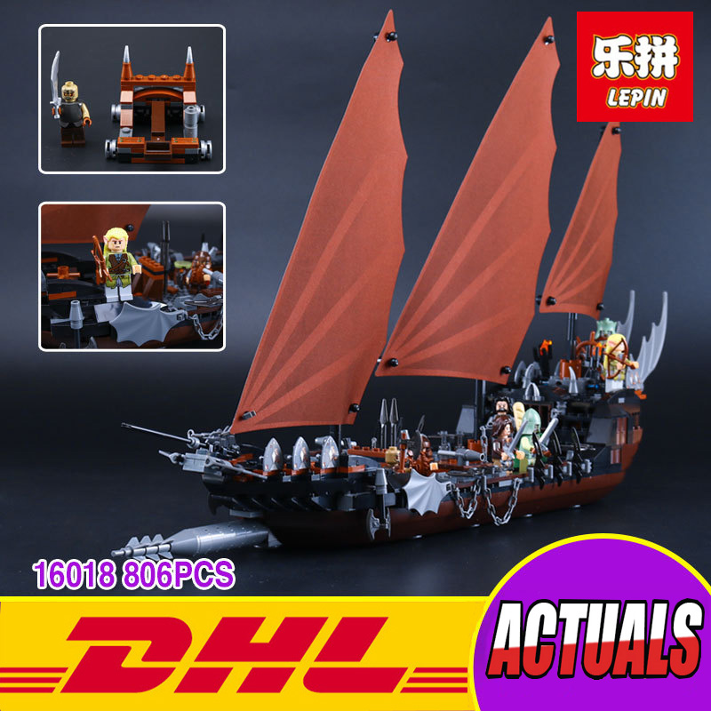 New Lepin 16018 Genuine The lord of rings Series The Ghost Pirate Ship Set Building Block Brick Toys 79008 lepin movie series ghost pirate ship 16018 756pcs building block for children toys 79008 compatible legoe pirate ship
