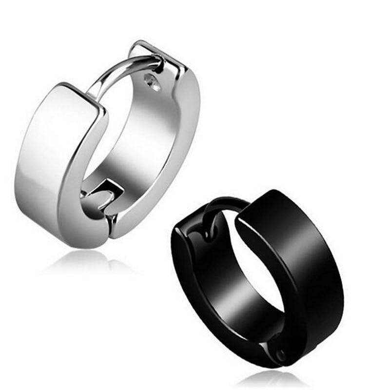 SaYao 2 Pieces 4x9mm High Quality Cross Stainless Steel Ear Studs Mens boy girl punk Crosses Earrings Stud Earring Women Gift
