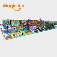 Волшебный весело Крытый Парк игр для детей Развлечения крытая площадка Крытый парк площадка оборудование цены