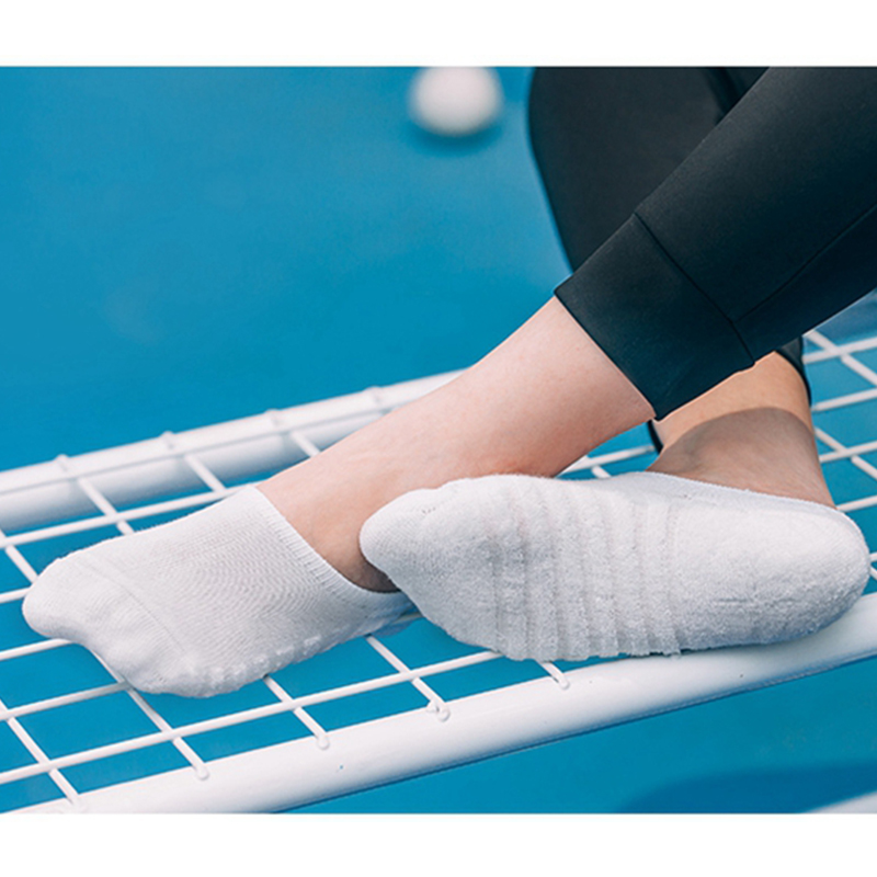 5 pairs/lot Men's fashion towel bottom boat socks cotton Sport sweat breathes Silicone Anti-Slip Invisible Socks Plus Size 41-45