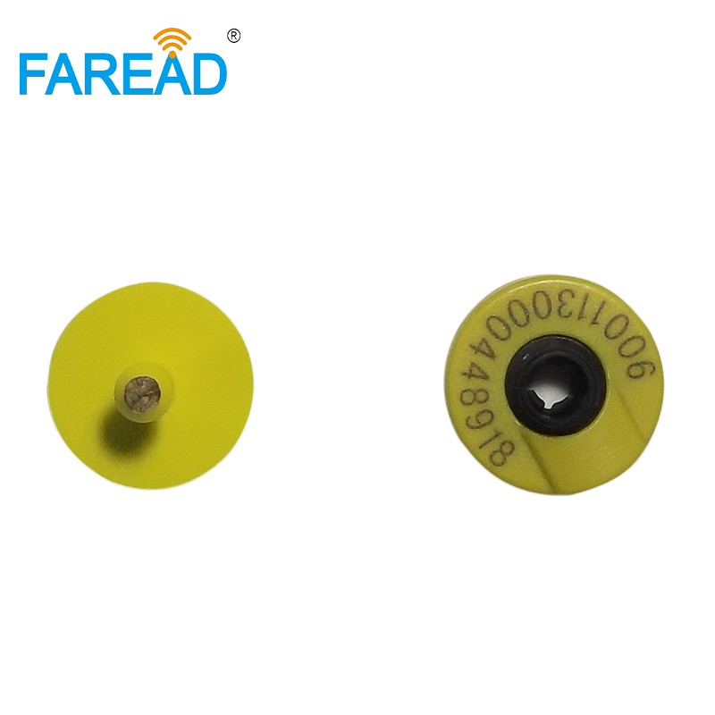X80pcs Feedlot  ISO11784/85 Visual Ear Tag Low Frequency Passive RFID Electronic Tag For Livestock Management