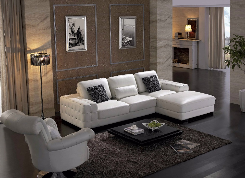 US $1110.0 |2019 Beanbag Armchair Fashion European Style Set Modern No Hot  Sale Italian Leather Corner Sofas For Living Room Furniture Sets -in Living  ...
