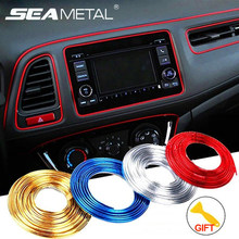 Car Styling Stickers and Decals Interior Mouldings Decorative Car 3D Sticker Decoration Strip Universal Car Interior Accessories 5m car styling brand stickers and decals interior decorative 3d thread stickers decoration strip on car accessories