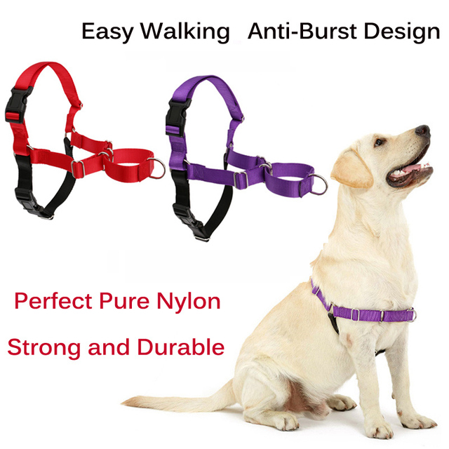 Adjustable Nylon Easy Walk Harness with Reflective No Pull Harness
