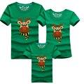 Olhar família Natal Milu Veados Roupas Família Filho Pai Roupas Combinando T-Shirt Mamãe e Me Filha roupas Pai Mãe Menino
