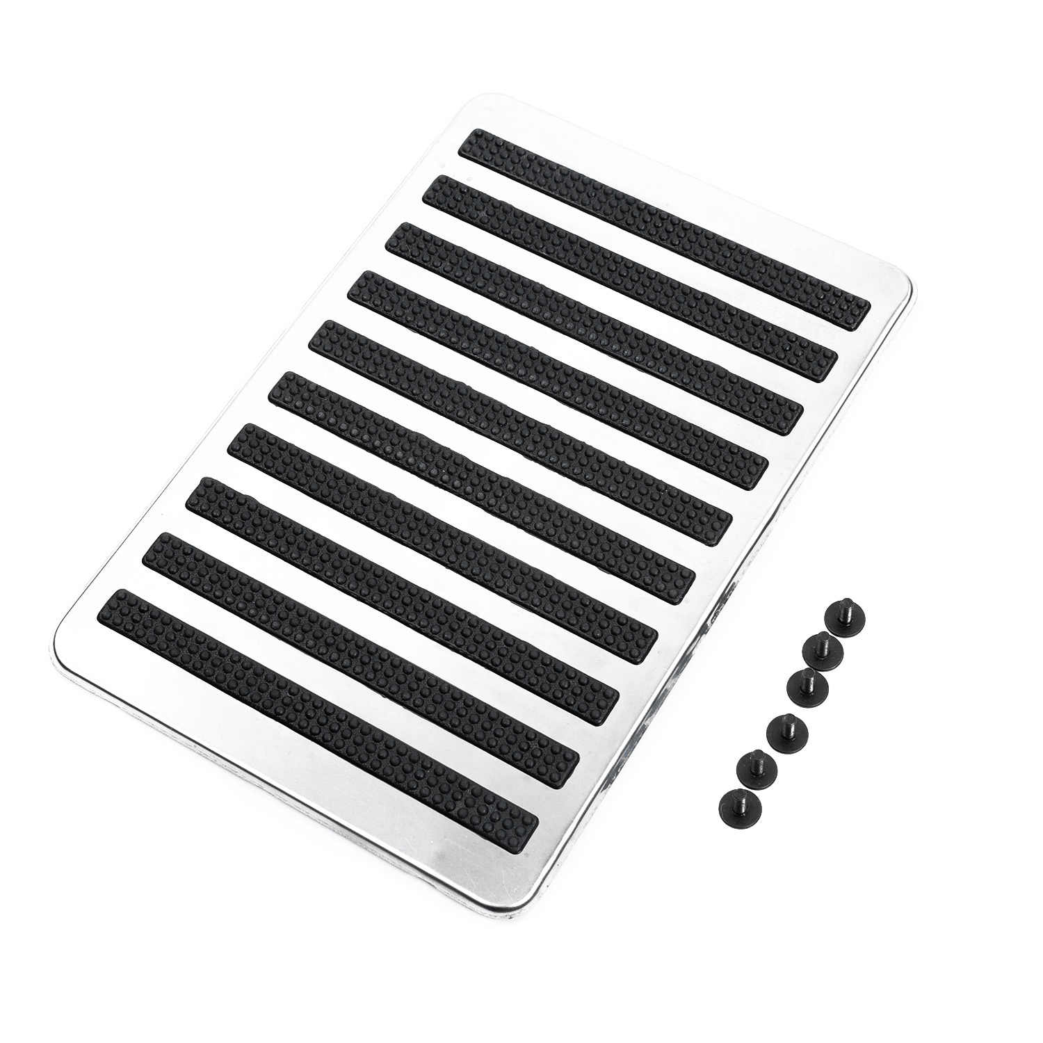 Universal Stainless Car Floor Carpet Mat Patch Foot Heel Plate Pedal Pad:9 * 6