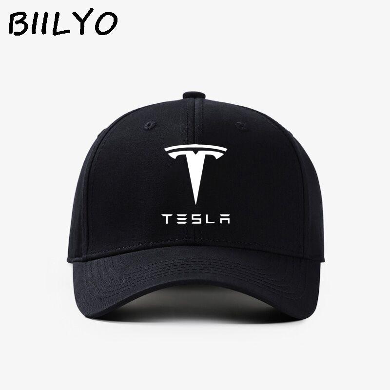 fb1c73efa2b TESLA Car Logo Trucker Hat Mesh Flat bill Baseball Snapback Flexfit Cap NEW  Box