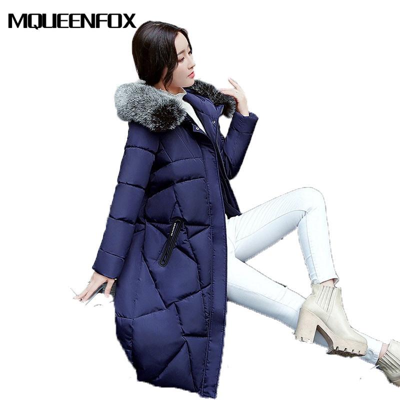 2017 New Winter Collection Women Coat Warm High Quality Big collar printing Hooded jacket Winter Women Coat  Jacket