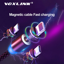 VOXLINK  Magnetic USB 3 in 1 Cable for iPhone Xs 8 & Type C Micro Nylon Braided Samsung Xiaomi Huawei