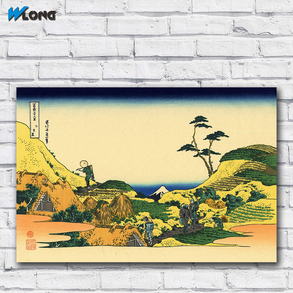 Large size Printing Oil Painting Mount Fuji by Hokusai L 02 wall art ...