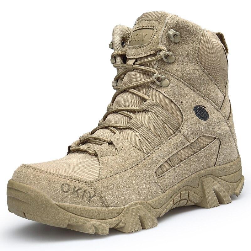 Cuir extérieur randonnée escalade bottes militaire tactique hommes désert Combat professionnel antidérapant sécurité confortable chaussures de chasse