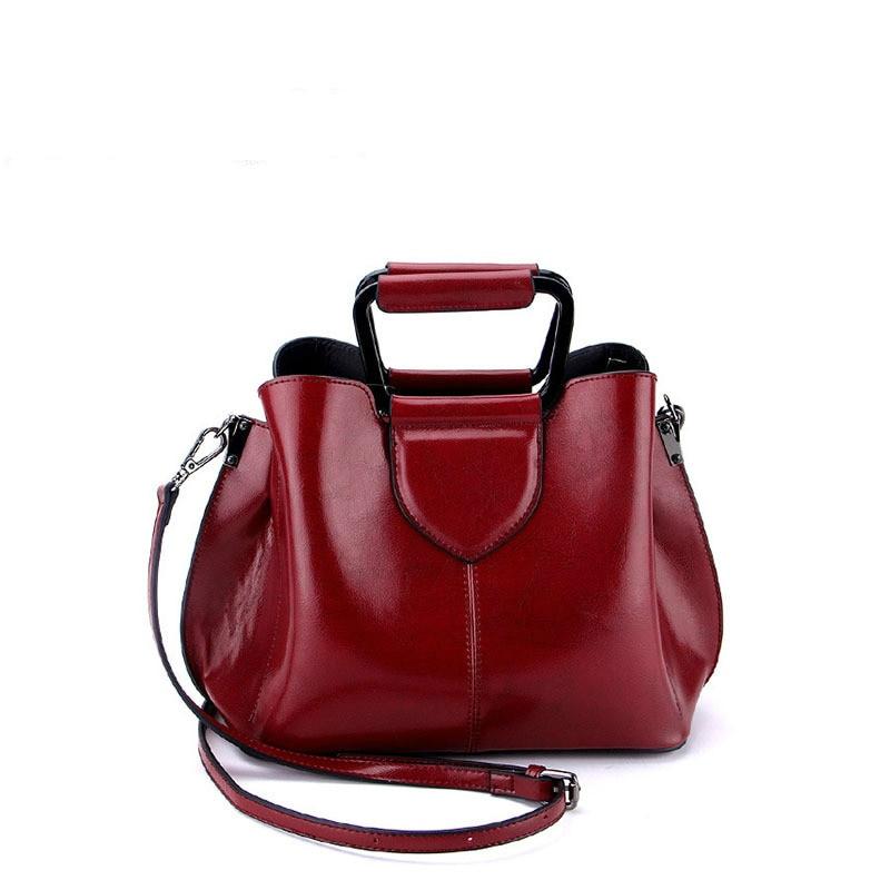 Genuine Leather Luxury Handbags Women Bags Designer Small Hobos Bolsas Tote Bag Exquisite Shoulder Bag Multi Color Design Red