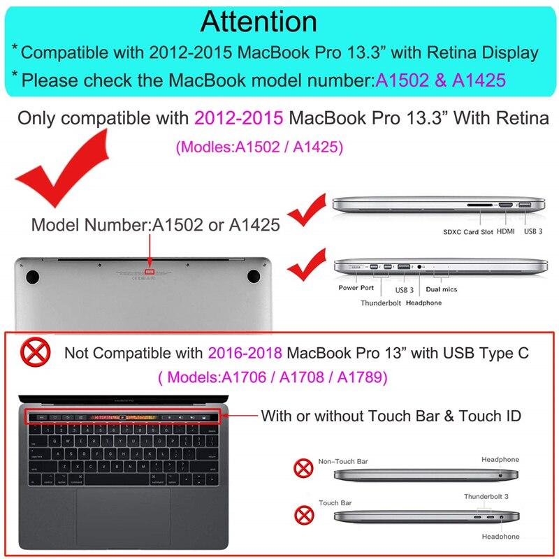 """Image 5 - MOSISO Laptop Sleeve для MacBook Pro 13 дюймов retina 13 Модель A1502 A1425 из искусственной кожи чехол для Mac Pro 13,3 """"ноутбук сумка новые-in Сумки и чехлы для ноутбука from Компьютер и офис"""