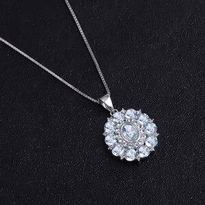 Image 2 - GEMS BALLET collar con colgante Vintage de Gema para mujer, de Plata de Ley 925, Topacio azul cielo Natural de 4,8 quilates, joyería fina de boda