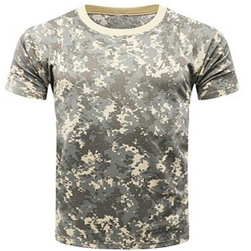 Mens Summer Military Camouflage T Shirt Fitness Quick Dry Camo T Shirts men O Neck Short Sleeved tshirt Top Tees PZ27