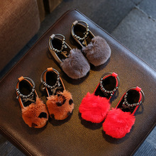 2016 New Autumn Winter Princess Girls Shoes Nice Design Bowknot Children Sneakers Leopard Red Grey Color Kids Flats Shoes