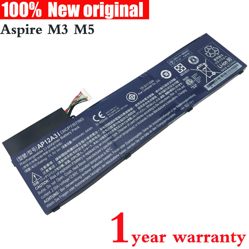 ФОТО Original Laptop Battery for Acer Aspire Timeline Ultra M3 M5 M3-581 M5-481 M5-581 AP12A3i AP12A4i 3ICP7/67/90 M3-581TG M5-481TG