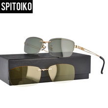 цена на Clip On Sun Glasses  Double Lens Sunglasses Free Shipping Clip On Night Vision   (S9203)