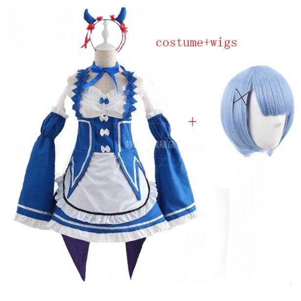 Ram/Rem Косплей Re: zero Hajimeru Isekai Seikatsu черный синий красный костюм горничной платье служанки - Цвет: package 8